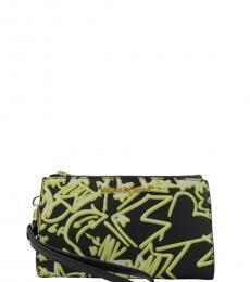 Michael Kors Black Double Zip Phone Wallet