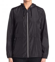 Vince Camuto Black Short Windbreaker Jacket