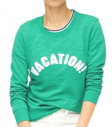 Green Vacation Graphic Pullover