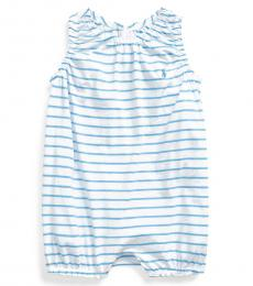 Baby Girls Chatham Blue Striped Bubble Shortall