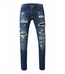 Philipp Plein Blue Straight Cut Jeans