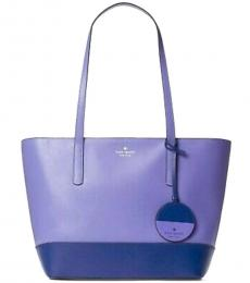 Kate Spade Blue Purple Briel Large Tote