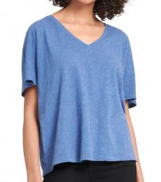 DKNY Sky Blue Short Sleeve Front Tee