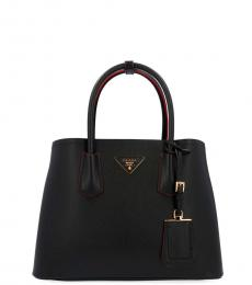 Prada Black Double Large Satchel