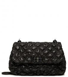 Valentino Garavani Black Nappa SpikeMe Large Shoulder Bag