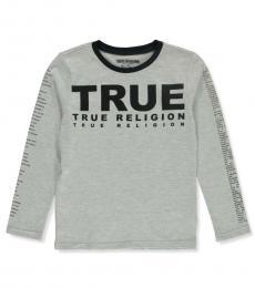 True Religion Boys Heather Grey Long Sleeve T-shirt