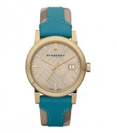 Burberry Turquoise City Haymarket Watch
