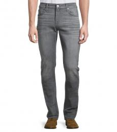 7 For All Mankind Grey Paxtyn Clean Skinny Jeans