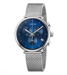 Calvin Klein Silver High Noon Blue Dial Watch