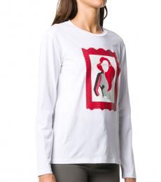 Emporio Armani White Graphic Print T-Shirt