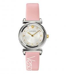 Versace Pink Logo Watch
