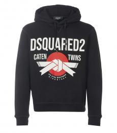 Dsquared2 Black Graphic Logo Hoodie