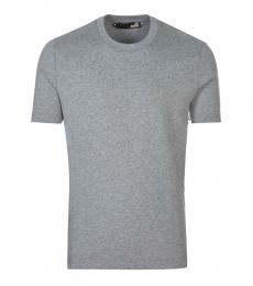 Love Moschino Grey Graphic Logo T-Shirt