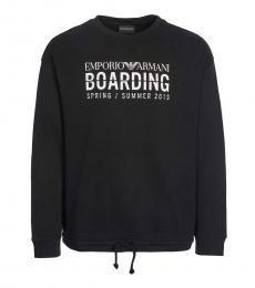 Black Front Logo Sweatshirt