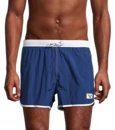 Emporio Armani Dark Blue Logo Swim Trunks