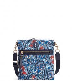 Tory Burch Blue Swingpack Medium Crossbody Bag