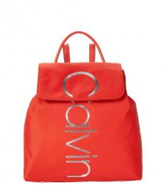 Calvin Klein Red Mallory Small Backpack