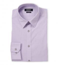 Lilac Slim Fit Stretch Dress Shirt