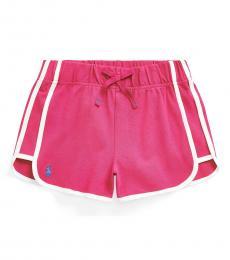 Ralph Lauren Girls Pink Stretch Mesh Pull-on Shorts