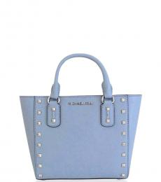 Blue Sandrine Stud Small Satchel