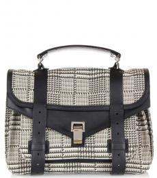 Proenza Schouler Black/White Patterned Medium Messenger Bag