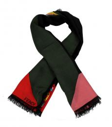 Fendi Black Love Bliss Scarf