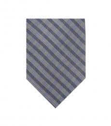 Calvin Klein Charcoal Mini Quad Gingham Slim Tie