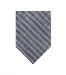 Calvin Klein Charcoal Mini Quad Gingham Slim Tie