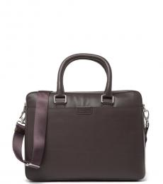 Cole Haan Chocolate Attache Large Briefcase Bag