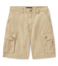 Boys Khaki Chino Cargo Shorts
