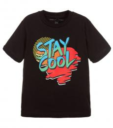 Stella McCartney Boys Black Stay Cool T-Shirt