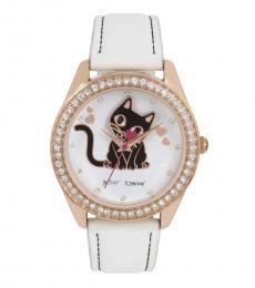 White Bauble Head Kitty Watch