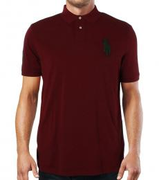 Red Custom Slim Fit Embroidered Polo
