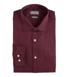 Purple Black Regular Fit Contrast Dress Shirt