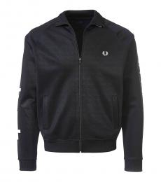 Fred Perry Black Logo Embroidery Jacket