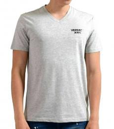 Versace Jeans Grey Graphic Print T-Shirt