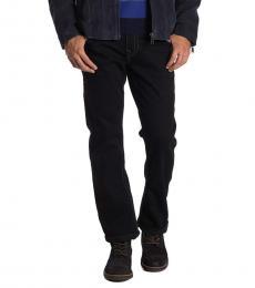 Black Ricky Flap Straight Big T Jeans