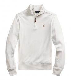 Ralph Lauren Boys White Interlock Pullover