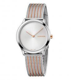 Calvin Klein Silver Minimal Silver Dial Watch