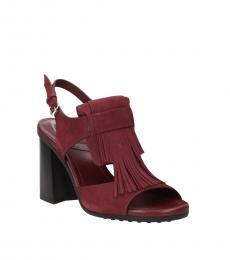 Violet Fringes Front Heels