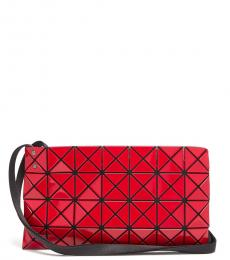 Red Prism Gloss Medium Shoulder Bag