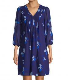 Capri Multi Floral-Print Mini Dress