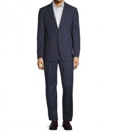 Michael Kors Blue Slim-Fit Mini Grid Suit