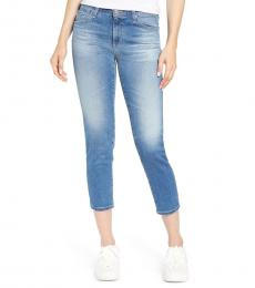 AG Adriano Goldschmied Blue Prima Crop Ankle Jeans
