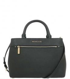 Michael Kors Black Hailee Medium Satchel
