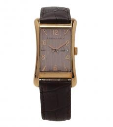 Burberry Brown-Rose Gold Heritage Watch