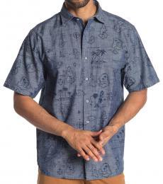 Blue-Tahiti Treasure Short Sleeve Shirt
