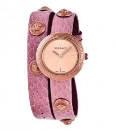 Versace Pink Medusa Stud Icon Watch