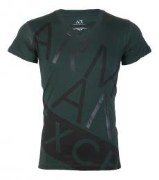 Armani Exchange Bottle Green Slim Fit Logo T-Shirt