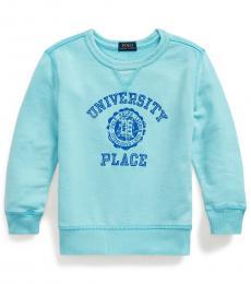 Ralph Lauren Little Boys Hammond Blue French Terry Sweatshirt